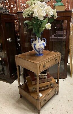 Early 20th Century 2 Tier Whatnot Stand With Drawers, Ideal Bedside / Lamp Table
