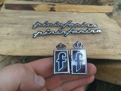 pininfarina set - 2 x logo + 2 x badge