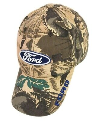 Ford Motor Company Oval Ball Cap Hat Mossy Oak Camo Embroidered Snapback