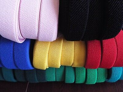 1m x 25mm - Flat Elastic, Very Strong  and Soft -  many colours