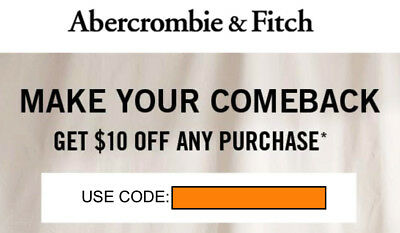 db051f09fa CODE $10 off any purchase Abercrombie & A&F KIDS coupon code exp ...