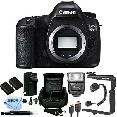 Canon EOS 5DS R DSLR Camera (Body Only) Extra Batteries + Flash + Case Bundle