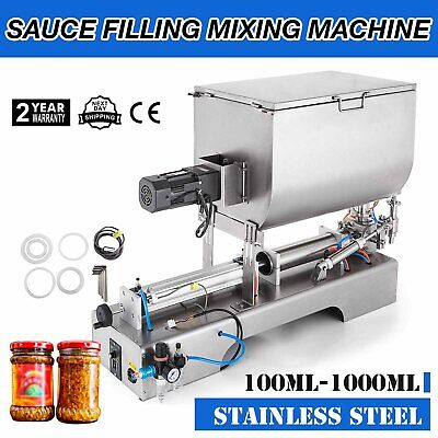 100-1000ml Liquid Paste Filling Mixing Machine Chili Sauce Commercial Pneumatic