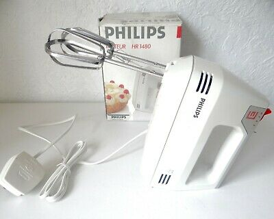 Vintage Retro Philips Handheld 3 Speed Food Mixer Processor Beater Whisk Holland