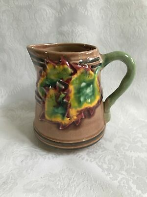 CALDAS PORTUGAL LEAF LEAVES Cream Syrup MAJOLICA PITCHER 342 WS EXC!