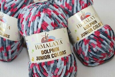 100g Garn Himalaya DOLPHIN JUNIOR COLORS,100%Polyester, Kuschelwolle, Babywolle