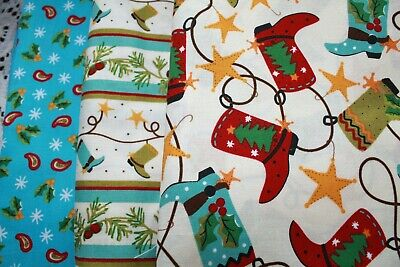 Cowboy Christmas Quilt Kit Fabric 5 yards Quilt Fabric