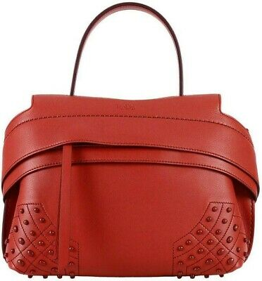 54503331bc TOD'S WAVE CHARM Micro Studded Luggage Leather Crossbody Shoulder ...