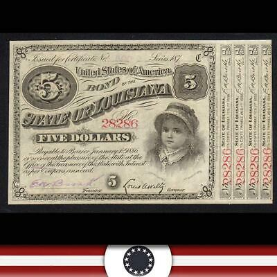 187_ $5 STATE of LOUISIANA BABY BOND *4 COUPONS*  28286