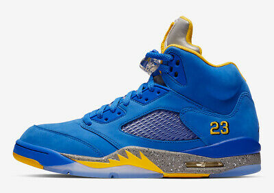 super popular 557a5 d394b NIKE AIR JORDAN 5 Retro LANEY HIGH VARSITY ROYAL BLUE YELLOW CD2720-400 sz  8-13