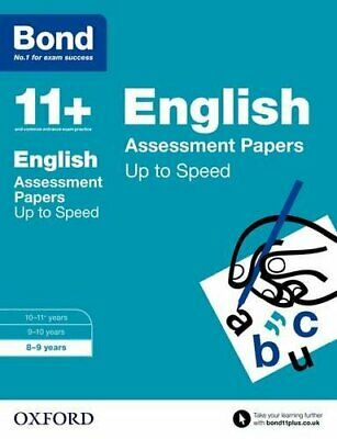 Bond 11+: English Up to Speed Papers: 8-9 years by Bond 11+ Book The Cheap Fast
