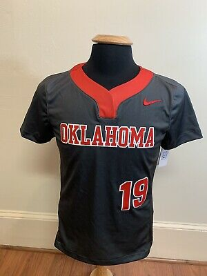 huge selection of 53346 071a7 NEW NIKE UNIVERSITY Of Oklahoma Softball Game Jersey Women's Medium Two  Button