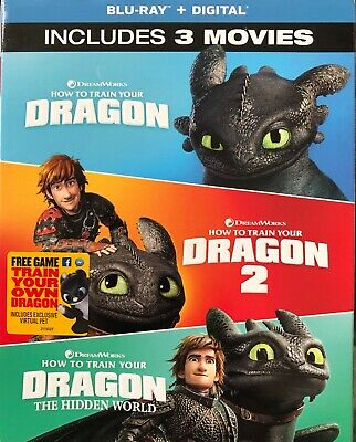 HOW TO TRAIN YOUR DRAGON / Dragon 2 / The Hidden World BLU-RAY 3-Disc Set