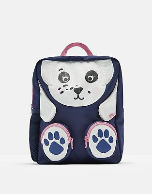 Joules Girls Zippyback Character Backpack in NAVY DALMATIAN in One Size