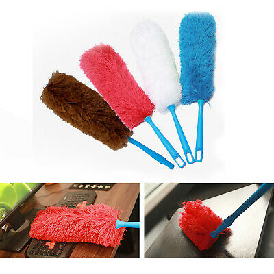 *Soft Microfiber Cleaning Feather Duster Magic Anti Static Dust Cleaner Handle*