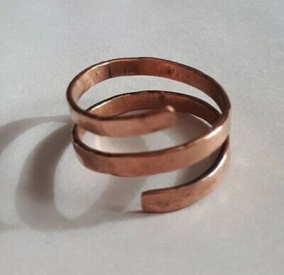 Hand Hammered Copper Wrap Round Ring