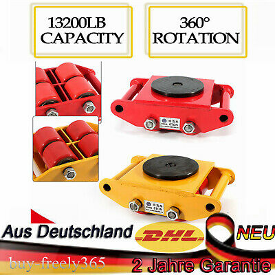 Heavy Duty Machine Dolly Skate Machinery Roller Mover Cargo Trolley 6 Ton 2Color