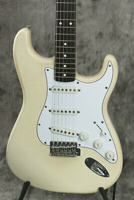 Fender Mexico Classic 70s Stratocaster Vintage White beautiful rare EMS F/S