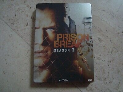 PRISON BREAK Season 3 DVD & Blu-ray SteelBook Wentworth Miller Dominic Purcell