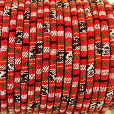 1m  Red Ethnic cotton Rope Cloth Ethnic Cord 6mm Jewellery Thread Thong ET3
