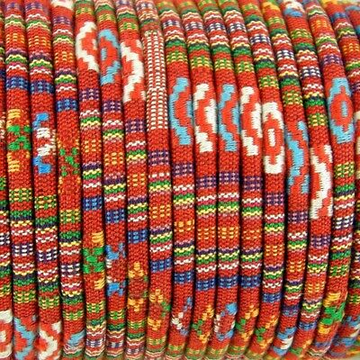 1m Red Ethnic cotton Rope Cloth Ethnic Cord 6mm Jewellery Thread Thong ET16