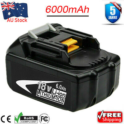 6.0AH for Makita BL1860B BL1830 BL1840 LXT 18V Battery MAX Lithium Ion Cordless