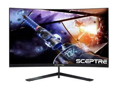 "Sceptre 24"" Curved 144Hz Gaming LED Monitor Edge-Less AMD FreeSync DisplayPort H"