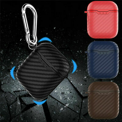 Carbon Fiber Soft Case For Apple AirPods 1 / 2nd Generation Wireless Charging Sd