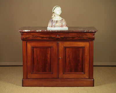 Antique Large Marble Top Chiffonier Side Cabinet c.1850.