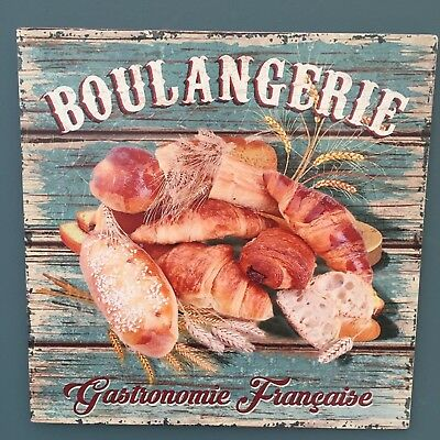 Shabby Vintage Chic Bakery  Bread, Boulangerie Plaque French inspired Metal Sign