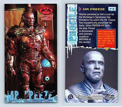 Mr. Freeze #P5 Batman & Robin Widevision 1997 Skybox Profile Chase Card