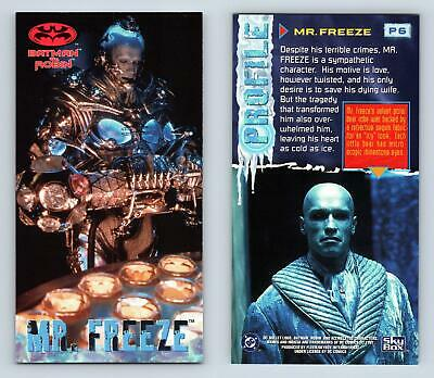 Mr. Freeze #P6 Batman & Robin Widevision 1997 Skybox Profile Chase Card