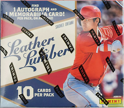 2019 Panini Leather & Lumber Hobby Baseball Box - Buy 2 Or More And Save !