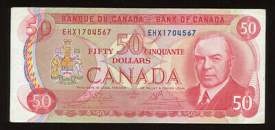 1975 Bank of Canada $50 - Replacement Note - BC-51bA - S/N:EHX1704567