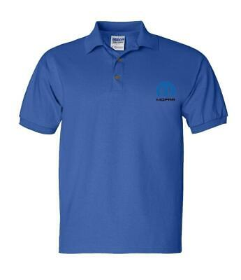 Mopar Official Mens Royal blue Polo Shirt with Embroidered Logo