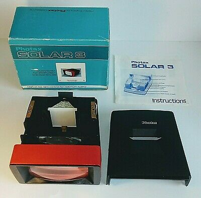 Photax Solar 3 Vintage Slide Viewer 2x2 Inch with Original Box + Instructions