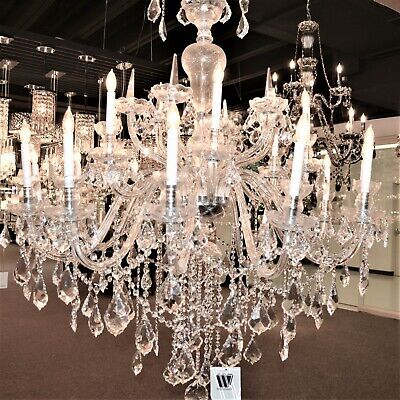 "SALE Maria Theresa 18 Light Crystal Chandelier D48"" X H60"" Tall Large Two 2 Tier"
