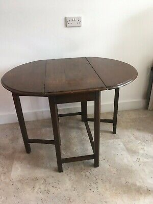 Antique Solid Oak Gate Leg Leaf Drop Table