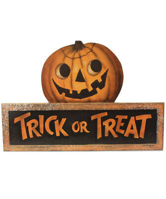 Bethany Lowe Halloween Trick Or Treat Dummy Board Wall Hanging New 2019 BB8829