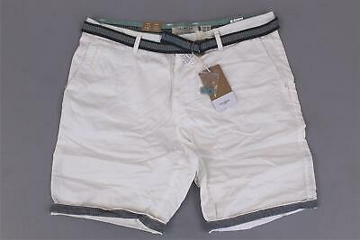 19a62f2509 Pull & Bear Men's Chino Belted Cotton Bermuda Shorts AB3 Beige Size US:32