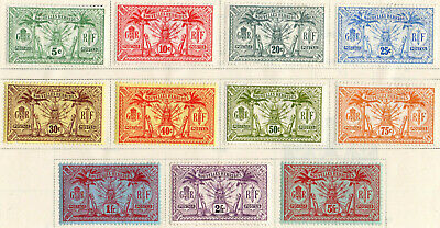 Commonwealth New Hebrides French 1911 KGV complete set of 11  MM