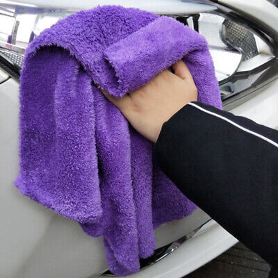 Car Home Wash Cleaning Soft Water Absorption Coral Velvet Towel  Accessories
