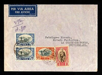 1064-SIAM-THAILAND-AIRMAIL COVER BANGKOK to LA CHAUX FOND (switzerland)1947.WWII