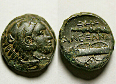 Alexander III Rare genuine Ancient CELTIC Barbarous style Greek Coin HERCULES
