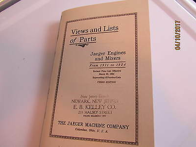 Jaeger Gas Engine Mixers  Herc/Economy Catalog 1911-1924 Manual engine parts