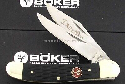 Boker Tree Brand Copperhead Red Shield Black Jigged Bone Handle Knife 110737