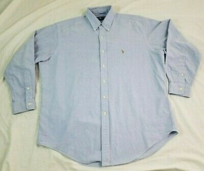 POLO RALPH LAUREN Menbs Shirt Multi Colored Pony Blue Chambray 16.5 34