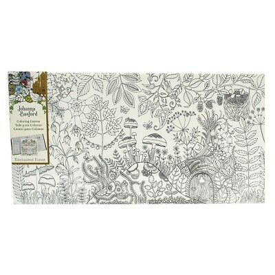 """Johanna Basford Colouring In Canvas - Enchanted Forest 12"""" x 24"""" Forest"""