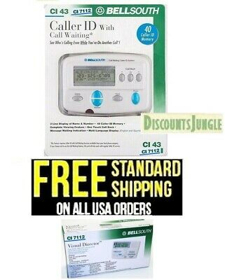 Bellsouth Caller Id Call Waiting Voice Mail & More Functions Ci-7112 - New