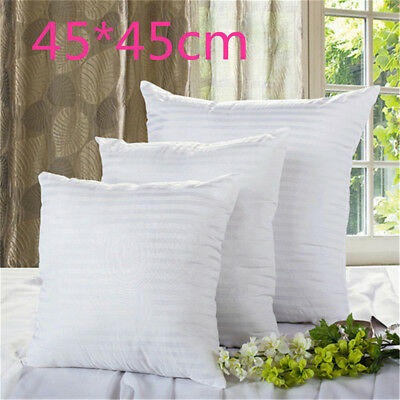 New Vacuum Compression Striped Pillow Core Square Pillow Inner Cushion Insert WH